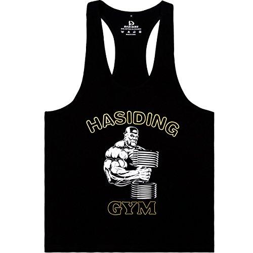 HASIDING Stringer Camicia del Muscolo Tank Top Sportivo Maglietta Bodybuilding