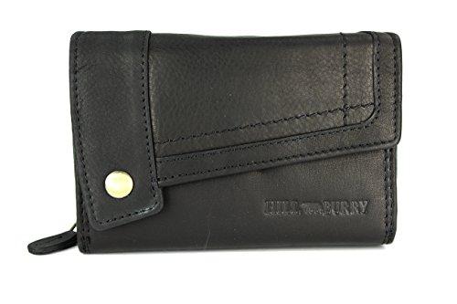 Hill Burry Pelle Vintage Portafogli da donna portamonete in morbida pelle–�?4,5x 10x 5cm (B x H x T) marrone marrone nero