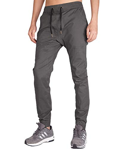 ITALY MORN Hommes Pantalons Pantalons Skinny Jogger Tapered Entrejambe Jogging Harem Skinny Casual Pants S Gris Fonc