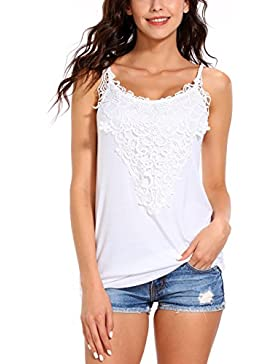 ISASSY - Camiseta sin mangas - Básico - Sin mangas - para mujer