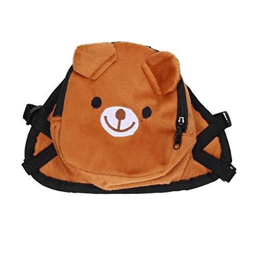 UEETEK Hund Rucksack Satteltasche, Bär Form Hundegeschirr Tasche für Outdoor-Reisen Camping Training - Größe S (braun)