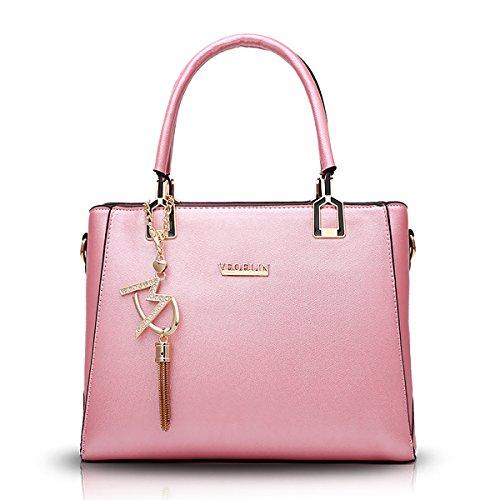 Tisdain Femminile Borsa a mano Moda selvaggio Stile semplicistico Portafoglio PU Borsa messenger Borsa da donna rosa
