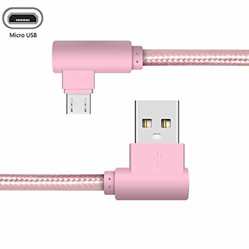 YANSHG L-förmiges USB-Micro-Kabel Daten-Sync-Aufladen 90 Grad-Kabel für Samsung Galaxy S2 S3 S4 S6, Note 2/3,Nexus, Nokia,HTC,Sony, XiaoMi,LG G3 G4 und mehr Micro-Geräte. (0.25M,1M,2M,3M)
