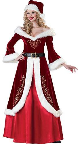Weihnachtsmann Nikolauskostüm Kostüm- Weihnachten Elf Frau für Herren - Herr Und Frau Elf Kostüm