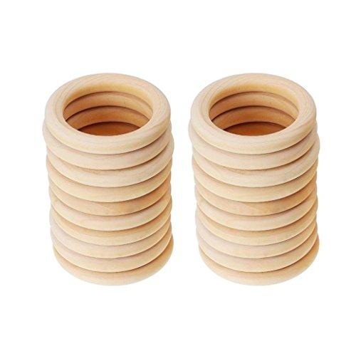 perfeclan 40 X Baby Neugeborenen Natürliche Runde Holz Aus Holz Spielzeug DIY Geschenk -