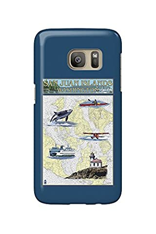 San Juan Islands, Washington - Nautical Chart (Galaxy S7 Cell Phone Case, Slim Barely There)