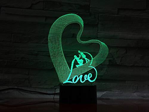 Liebe Acryl Nachtlicht Schlaf Licht Zubehör Batterie Schlafzimmer Tischlampe Dekoration Kind Geschenk