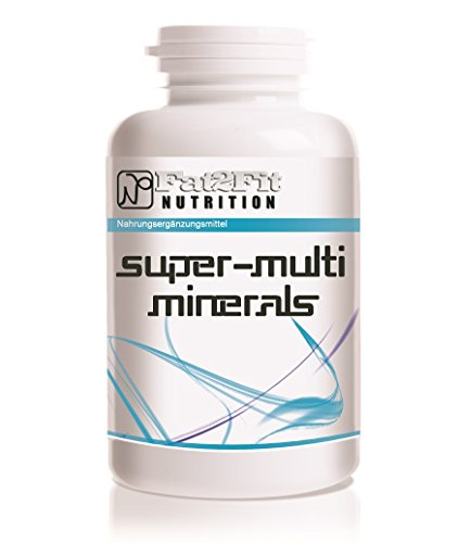 Super Multi Minerals - 180 Tabletten Mineralien Complex