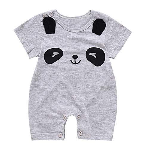Knowin-baby body Sommer Baby Tier Cartoon Kletteranzug Kurzarm Einteiler mit Bär - Panda - Wolke - AFFE Muster Säuglingsspielanzug Overall Outfits Kleidung(0-12M) (Mädchen Für Rockstar-outfits)