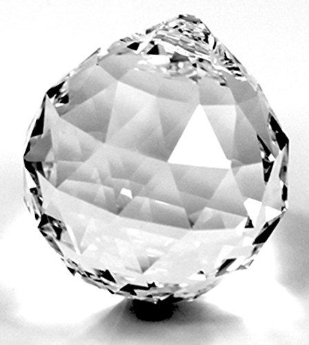 Rieser premium-kristall Scatola Regalo con Sfera di Cristallo 40 mm Spectra Crystal di Swarovski – per lampadari e lampadari – Decorazione Finestra – Feng Shui – Effetto Arcobaleno.