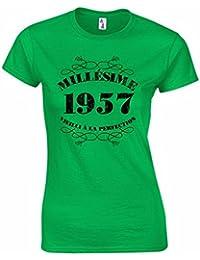 T-Shirt Femme Anniversaire 60 Ans Millésime 1957