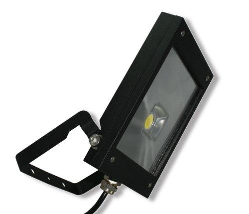 Rolux DF-51001 A+, LED Flutlichtstrahler, aluminium, 12 W, warmweiß/schwarz, 200 x 142 x 28 cm