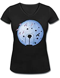 Spreadshirt The Little Prince Rose Under Cover and Earth Women's Organic V-Neck T-Shirt by Stanley & Stella