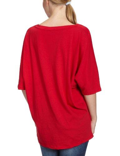 Bobi Damen T-Shirt 525-08022, V-Ausschnitt Rot (Cuba)