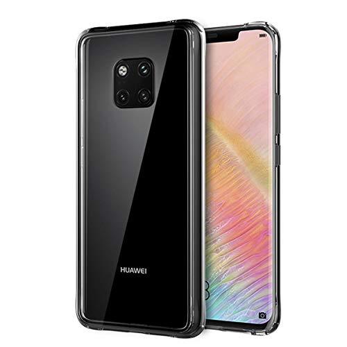 Beryerbi Huawei Mate 20 Pro Hülle 2 in 1 TPU + Panzerglas Aurora Schutzfolie Schutzhülle stoßfest geschützt Case für Huawei Mate 20 Pro 2018 (Huawei Mate 20 Pro, Transparent)
