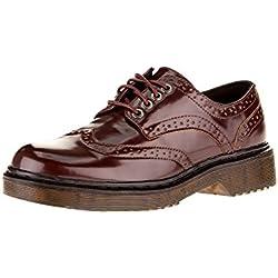 oodji Collection Mujer Zapatos Tipo Oxford de Piel Sintética, Marrón, 40 EU / 6.5 UK