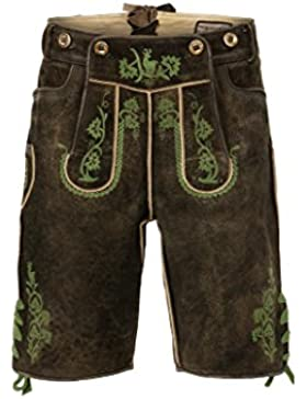Stockerpoint - Herren Trachten Lederhose mit Träger, in verschiedenen Farben, Edgar