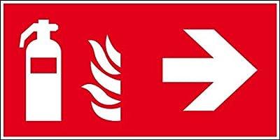 LEMAX® Brandschutzzeichen Feuerlöscher rechts, ASR/ISO, Kunststoff, 300x150mm