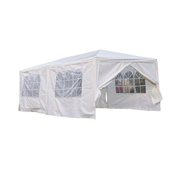 Qisan Canopy Tent Carport Gazebos Party Tent 10 X 20-feet Domain Carport with Sidewalls, (White) 1