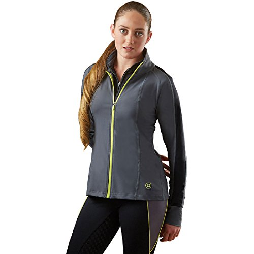 Dublin Valeria Technical Zip Thru Top Charcoal
