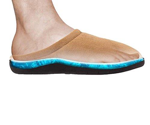 Zapatillas unisex suela GEL color camel Talla L: 29 cm (44-45)