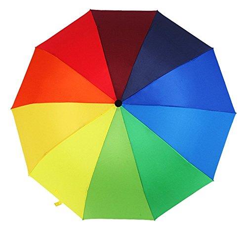 Katomi paraguas plegable con los colores del arco iris