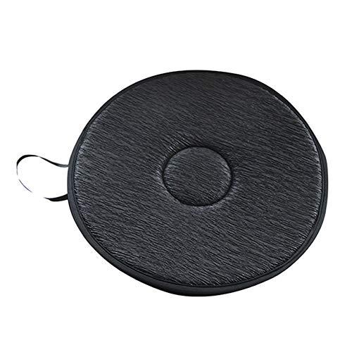 Alaojie - cuscino per sedili auto girevole a 360 gradi, con imbottitura morbida antiscivolo nero