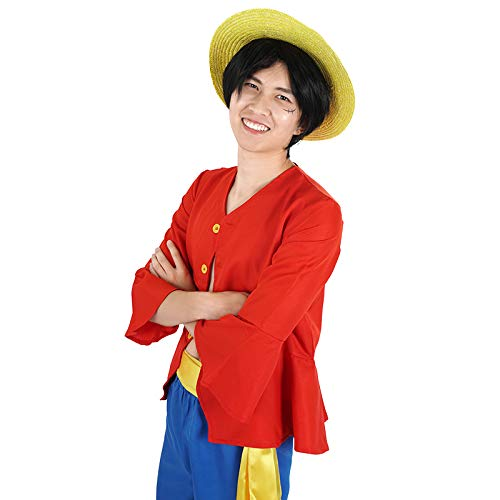 CoolChange One Piece Kostüme Monkey D. Ruffy nach 2 jähriger Trennung Hemd Hose Hut ()