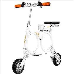 Mini Portátil Adulto Scooter/Doble Anillo Estructura De Múltiples Hojas/Desmontable / con Puerto USB/Puede Cargar para Teléfono Móvil/Conexión Bluetooth App Diseño Doble Asiento Dividido