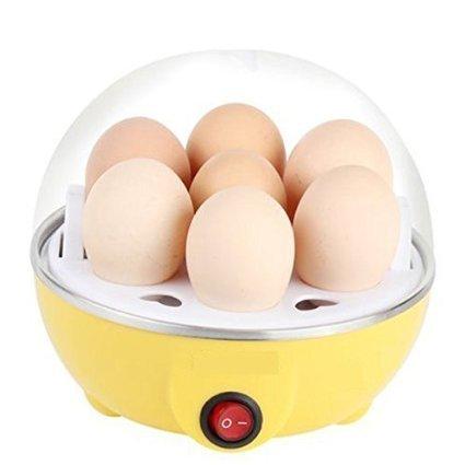 Electric 7 Egg Boile Egg Boiler Steamer Egg Cooker (Yellow)