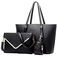 three-piece women handBag bag Shoulder Messenger Bag Black WB59
