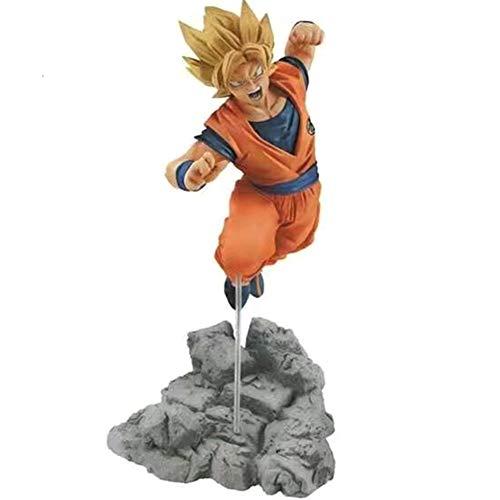 KroY PecoeD Figura de acción de Dragon Ball Z, muñeca de Super Saiyan Trunks Son Goku Gogeta Figura de acción de PVC niños Adultos y fanáticos del Anime( Style 14-Super Saiyan Son Goku)