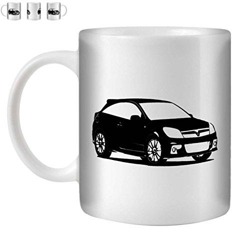 Stuff4 Tee/Kaffee Becher 350ml/Schwarz/Astra VXR OPC H/Weißkeramik/ST10