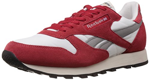 Reebok Classics Men's Cl Leather Vintage LP Red, Chalk, Grey, Sandtrap and Black Leather Sneakers – 9 UK 41ZcXNQJkVL