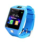 Eboxer Smart Kids Phone Guarda SIM, Anti-Lost Activity Tracker Orologio Bluetooth con monitoraggio del Sonno, pedometro, Sveglia, invio di messaggi TF Card di Supporto per Android/iOS (Blu)