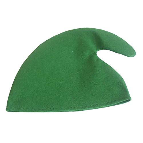 Kostüm Filz Elf Aus - Baoblaze Filz Weihnachtself Mütze/Hut Elf Kostüm Zubehör für Alle - Grün