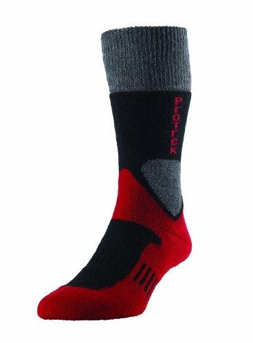 H.J. Hall Quality ProTrek Challenger Socken Wandern Hiking Trekking Strümpfe aus Merino Wolle - Schwarz, L 42 - 44.5 Hj H H