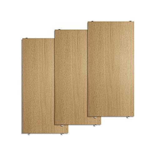 Unbekannt String - Regalboden 58 x 30 cm (3er-Pack), Eiche -