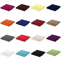 4er Pack zum Sparpreis, Frottier Handtuch-Serie - in 7 Größen und 16 Farben 100% Baumwolle 500 g/m², 4er Pack Gästetücher (30x50 cm) in Anthrazit-Grau