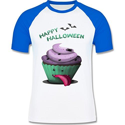 Halloween - Halloween treats - zweifarbiges Baseballshirt für Männer Weiß/Royalblau