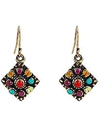 3aee20ec4312 Gespout.1 par Pendientes de Diamantes de Color Vintage Pendientes de Viento  Nacional Bohemio Pendientes