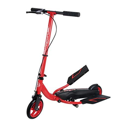 T5S6 Stepper-Roller-Fahrrad Rot, Jungen und Mädchen 8 Jahre und bis - bis zu 80kg (Size : LAHHACS)