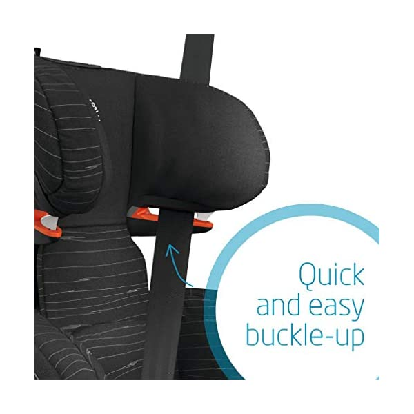 Maxi Cosi RodiFix AirProtect Child Car Seat, ISOFIX Booster Seat, Extra Protection, 3.5-12 Years, 15-36 kg, Scribble Black Maxi-Cosi Booster car seat for children from 15 to 36 kg (3.5 to 12 years) Grows along with your child thanks to the easy headrest and backrest adjustment from the top Patented AirProtect technology for extra protection of child's head 5