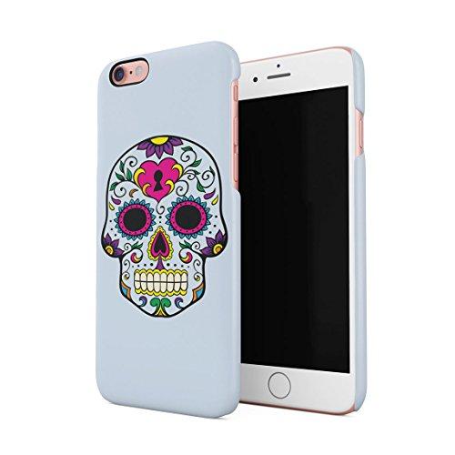 Nero Sugar Candy Floral Rosa Rossa Mexican Skull Pattern Custodia Posteriore Sottile In Plastica Rigida Cover Per iPhone 7 & iPhone 8 Slim Fit Hard Case Cover Blue Native