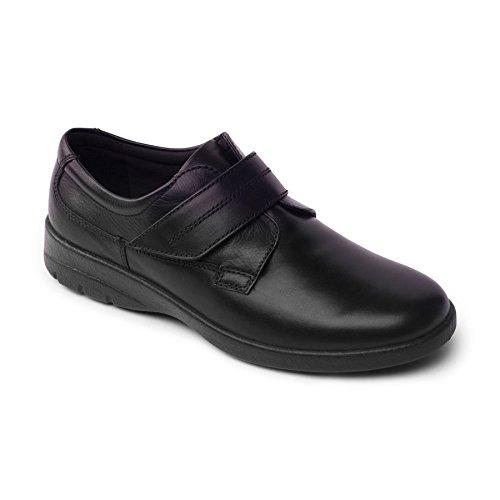 Padders Homme Chaussure en Cuir 'Air' | Taille Standard F | Talon 40mm | Avec Chausse-Pied Gratuit Noir