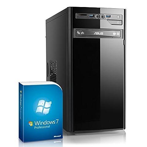 Multimedia PC IDV i7-6700 inkl. Windows 7 Pro - Intel Quad-Core i7-6700, 4x 3400 MHz, 8GB RAM, 1TB HDD, 300MBit/s WLAN, 10in1 CardReader