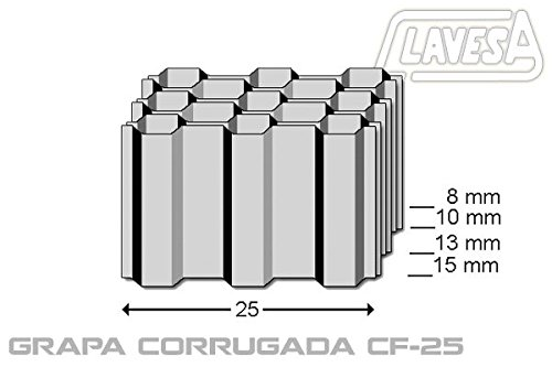 Agrafeuse pneumatique clavesa bscf15. Agrafe tôle corrugada CF jusqu'à 15mm de long