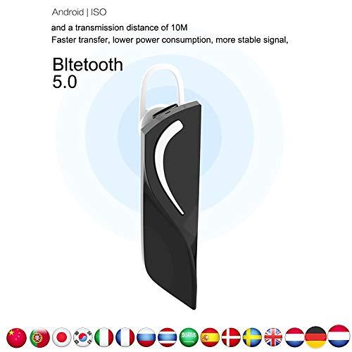 Intelligentes In-Ear Headset kabellose Übersetzung Echtzeit Headset Bluetooth Kopfhörer Sprachübersetzer Onlineübersetzungs Drahtloser Tragbarer Geschäfts Kopfhörer Unterstützt 28 Sprachen (Schwarz) - Für Die übersetzung Headsets