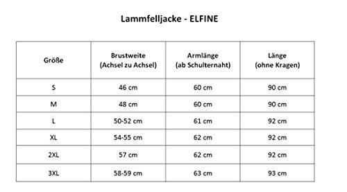 Lammfelljacke - ELFINE Damen Merino Felljacke Lederjacke Echtleder Winterjacke Kurzmantel grau Size M - 6