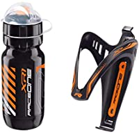 Raceone.it - Kit Fluo Race Duo: Borraccia XR1 + Portaborraccia X3 Ideale per Bici Race/MTB/Gravel/Trekking Bike…